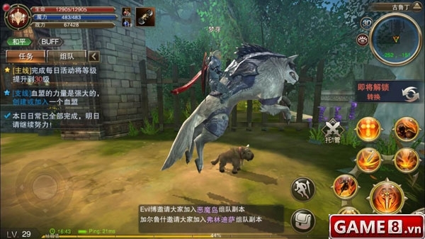 Lineage 2 Mobile Gameplay