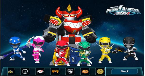 Power Rangers Dash - Xin 1 vé trở về tuổi thơ cùng với 5 anh em siêu nhân
