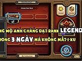 Chỉ cần 1460 Dust và 3 ngày, anh chàng này đã leo thành công lên hạng Legend của Hearthstone!