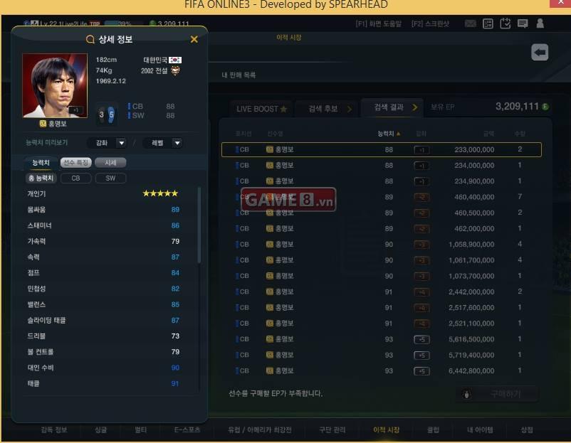 FO3: Cập nhật giá bán các thẻ Korea Legend 2002 hot nhất tháng 7 tại Hàn  Quốc