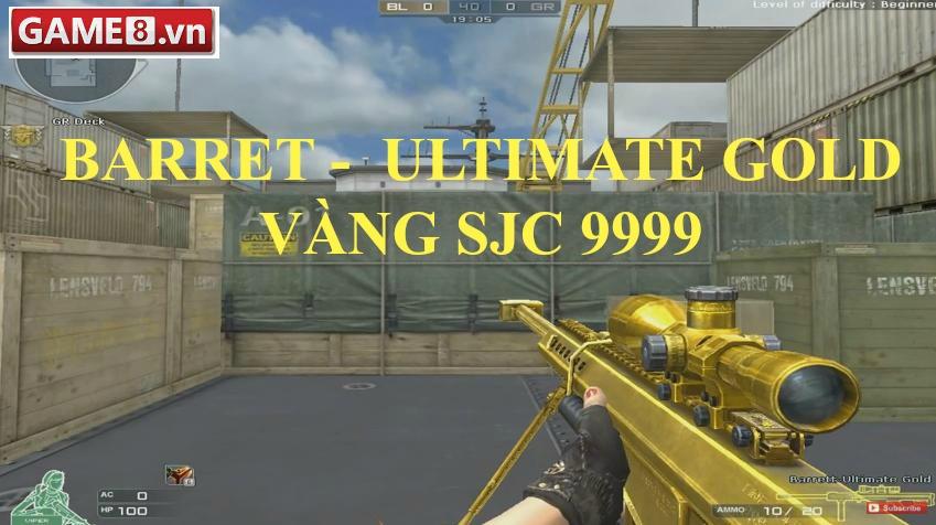 """M82A1 Ultimate Gold - Ơn giời, đây mới là """"3z vàng"""" mà mọi người hay hình  dung"""