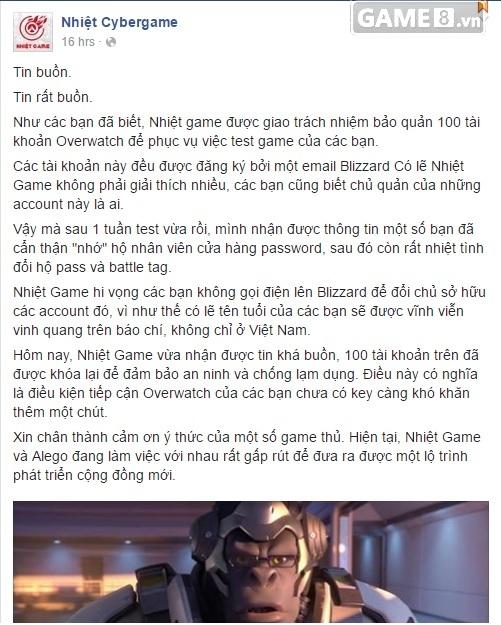 Overwatch: Lại thêm một tiệm net ở Hà Nội cho chơi thử miễn phí và