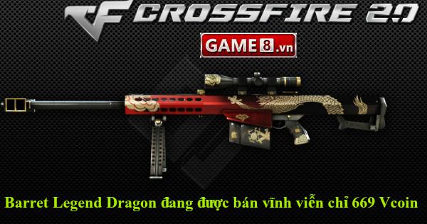 Cực sốc: �ột Kích lần đầu tiên bán Barret Legend Dragon vĩnh viễn với giá  chỉ 669 Vcoin