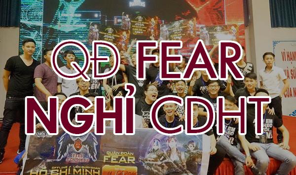 """CDHT: FEAR """"xin rút khỏi tất cả các BXH có liên quan đến Quân Đoàn"""""""