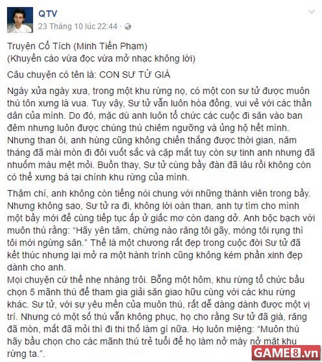LMHT: Lại vụ việc All Star fan hâm mộ QTV khẩu chiến với cóc ghẻ HLV Tinikun trên Facebook cá nhân