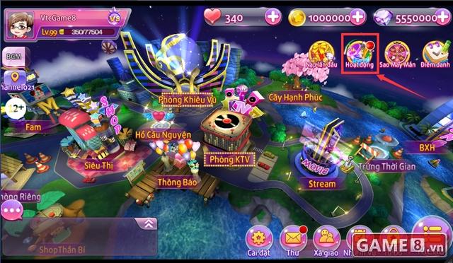 Hướng dẫn cách nhập giftcode game Au Stars