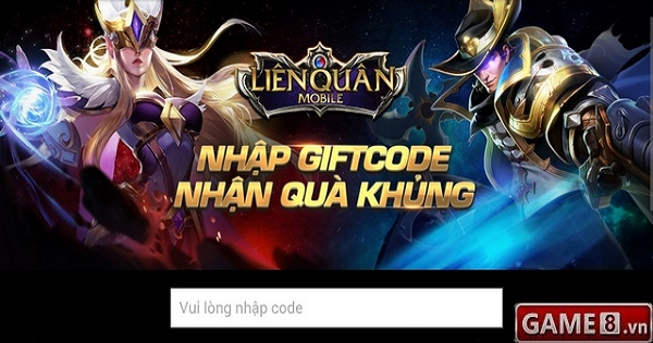 Giftcode Liên Quân Mobile nhân sự kiện game chính thức ra mắt