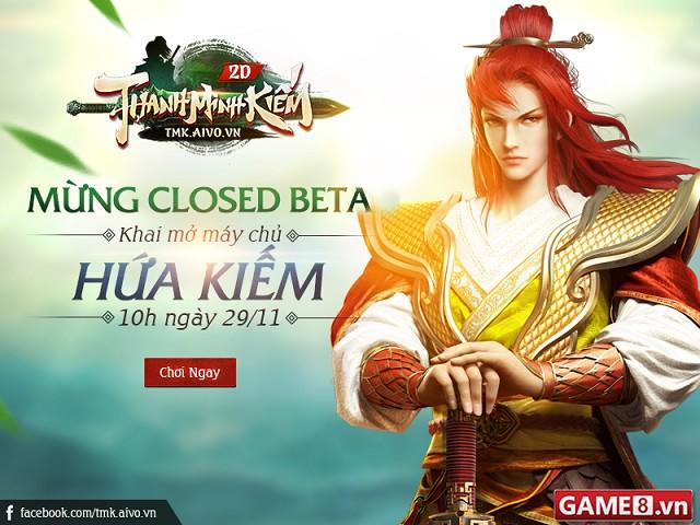Tưng bừng Close Beta Thanh Minh Kiếm gửi tặng độc giả Game8 300 Giftcode Anh Hùng