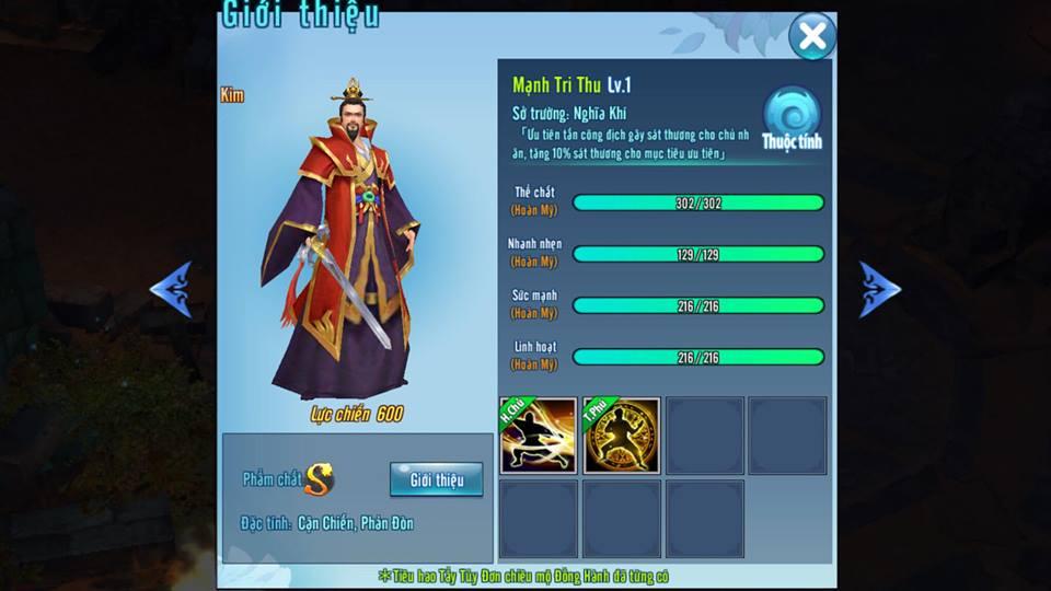 Võ Lâm Truyền Kỳ Mobile - Cách chọn đồng hành dành cho Thiếu Lâm - ảnh 4