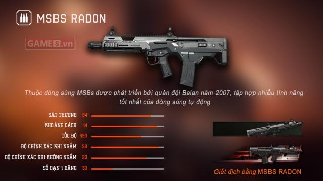Đánh giá tổng quan về MSBS Radon - Cây súng rifleman cực kỳ đáng đồng tiền bát gạo của Warface