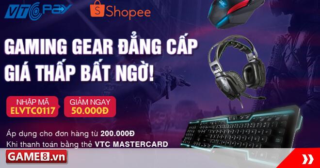 Gaming Gear đẳng cấp – Giá thấp bất ngờ cùng VTC Pay và Shopee