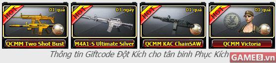 Đột Kích tung hàng trăm ngàn giftcode ''xịn'' dành cho người chơi Phục Kích Mobile, bạn đã biết chưa? - ảnh 3