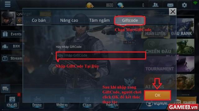 Hướng dẫn cách nhập Giftcode game Phục Kích Mobile - ảnh 3