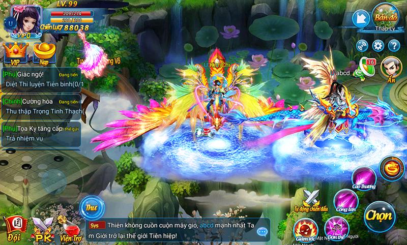 Kiếm Vũ Vô Song - Game mobile đề tài tiên hiệp sắp ra mắt Việt Nam - ảnh 3