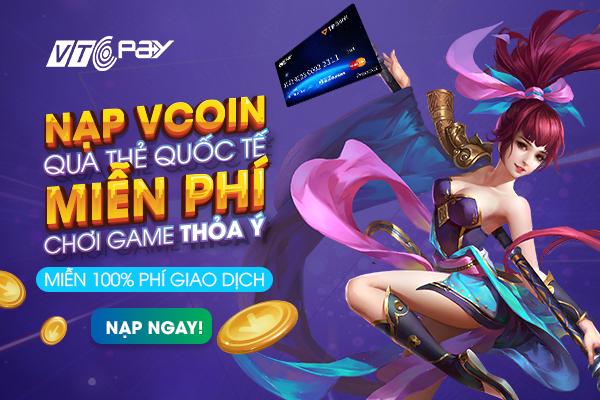 [Bạn có biết?] Miễn 100% phí giao dịch khi nạp Vcoin qua thẻ quốc tế! - ảnh 1