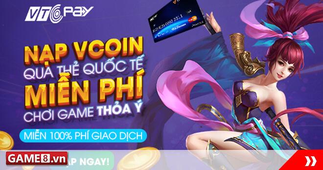 [Bạn có biết?] Miễn 100% phí giao dịch khi nạp Vcoin qua thẻ quốc tế!