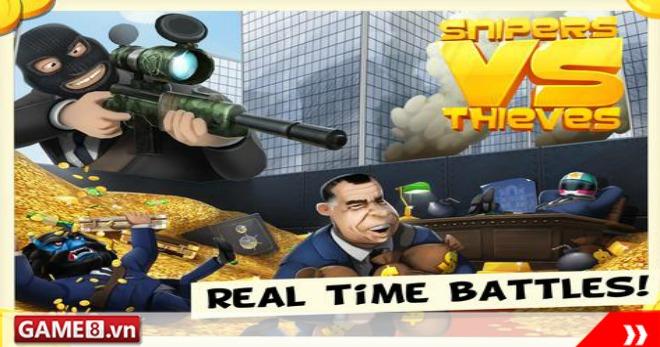 Snipers vs Thieves - Game bắn súng cực kỳ vui nhộn trên mobile