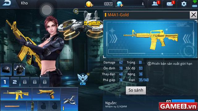 Phục Kích Mobile: M4A1-Gold - Khẩu súng thần rùa săn táo bá đạo trong game