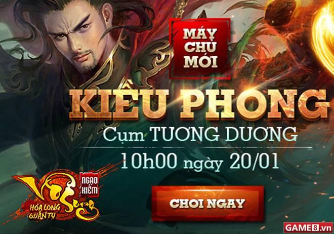 Ngao Kiếm Vô Song tặng 301 Giftcode server mới Kiều Phong - ảnh 1