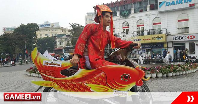 Táo Quân cưỡi 'cá chép sắt' náo loạn hồ Gươm có quan hệ thân thiết với Đàm Vĩnh Hưng, Hồ Ngọc Hà?