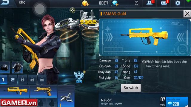 Phục Kích Mobile: FAMAS-Gold - Khẩu súng quay tay nhanh nhất trong dòng súng trường