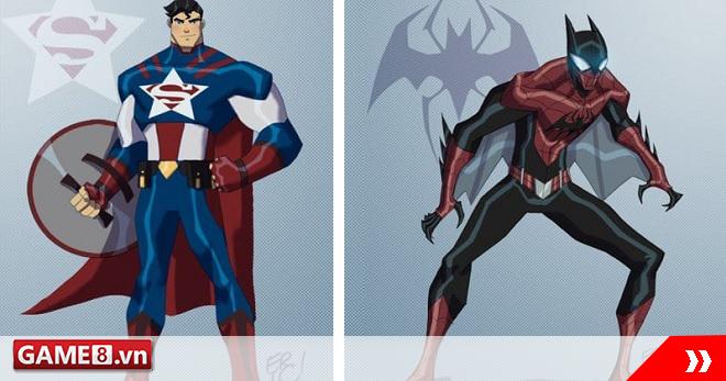 Choáng váng với phiên bản dung hợp của các siêu anh hùng Marvel và DC