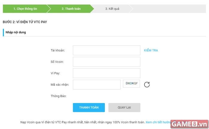 Rủng rỉnh Vcoin – khỏi lo chi phí khi nạp qua Ví điện tử VTC Pay - ảnh 3