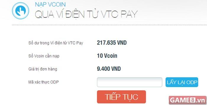 Rủng rỉnh Vcoin – khỏi lo chi phí khi nạp qua Ví điện tử VTC Pay - ảnh 4