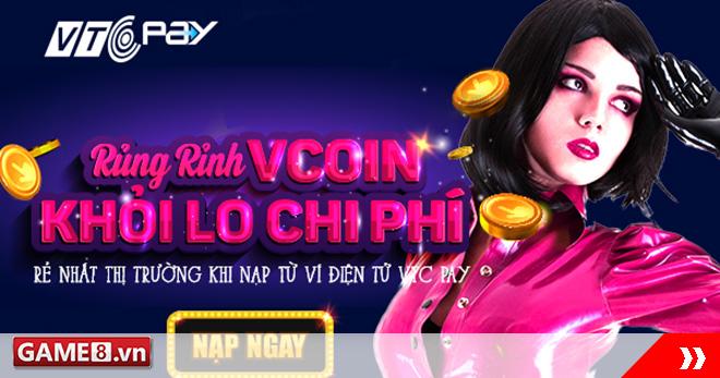 Rủng rỉnh Vcoin – khỏi lo chi phí khi nạp qua Ví điện tử VTC Pay