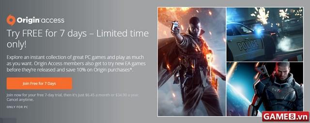 EA thử nghiệm dịch vụ Origin Access cho phép chơi game hoàn toàn miễn phí - ảnh 1