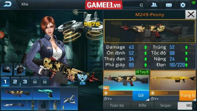 Minimi-M249 Peony trong Phục Kích Mobile - MG ''huỷ diệt'' phía sau ngoại hình ''nữ tính''