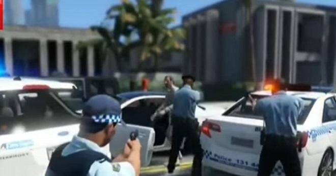 Cảnh sát nóng mắt vì bị ... bêu xấu trong bản mod của GTA 5