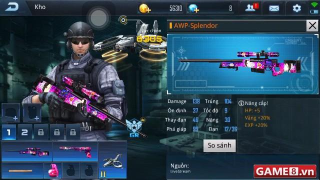 Phục Kích Mobile: Trải nghiệm khẩu súng tỉa nữ tính mang tên AWP-Splendor