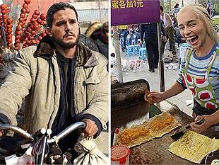 Sa cơ lỡ vận, dàn nhân vật Game of Thrones sang Trung Quốc bán hàng rong