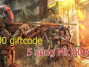 Tặng 500 giftcode Warface bộ 5 khẩu súng đặc biệt Mk 60 Mod