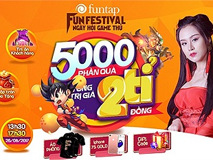Đếm ngược ngày diễn ra sự kiện Fun Festival – Ngày hội game thủ lớn nhất 2017