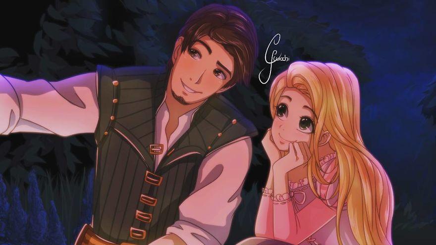 Nếu trở thành anime, các công chúa và hoàng tử Disney trong sẽ đáng yêu thế này