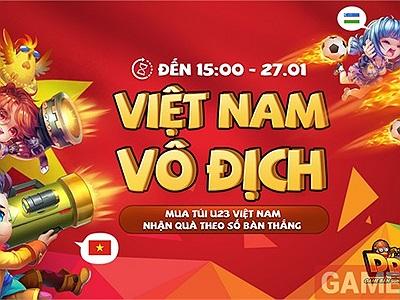 Garena DDtank tung sự kiện khủng cổ vũ U23 Việt Nam vô địch