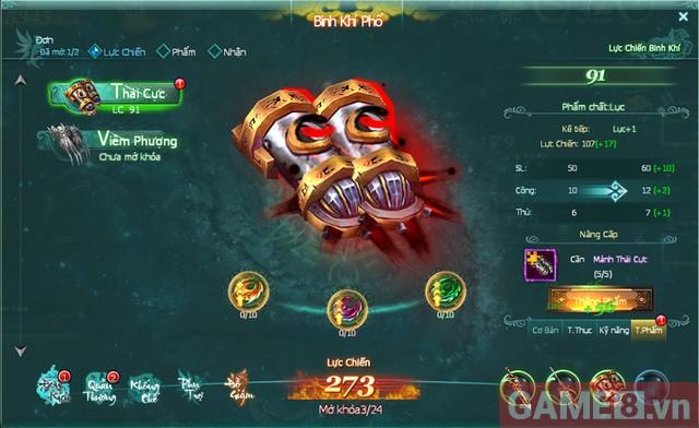 Cùng săm soi hệ thống binh khí cực chất trong game Binh Khí Phổ