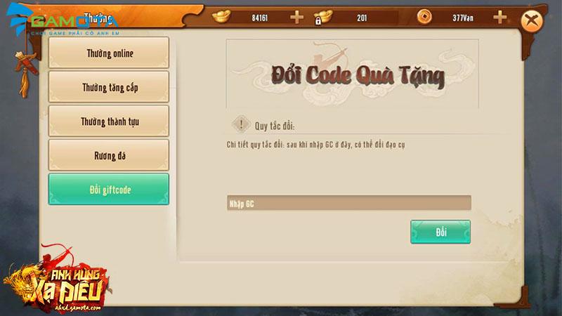 Nhanh tay nhận ngay Giftcode Anh Hùng Xạ Điêu Gamota mừng game chính thức ra mắt - ảnh 2