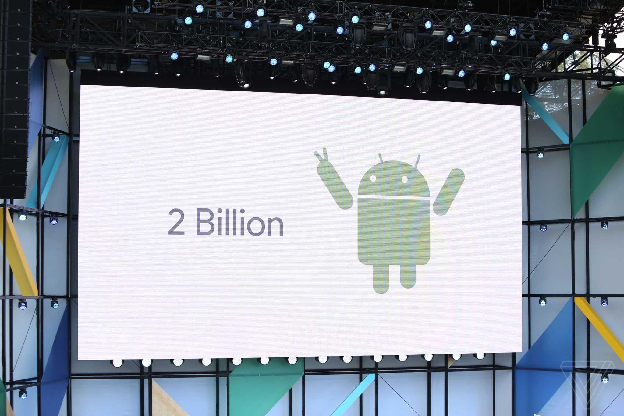 thế giới có 2 tỷ người đùng điện thoại android
