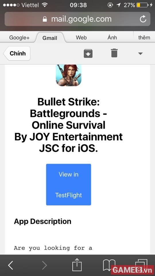 Bullet Strike: Battlegrounds chính thức mở cửa thử nghiệm giới hạn dành cho điện thoại iOS