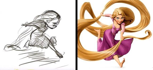 Choáng váng với hình ảnh phác thảo của một loạt nhân vật hoạt hình nổi tiếng