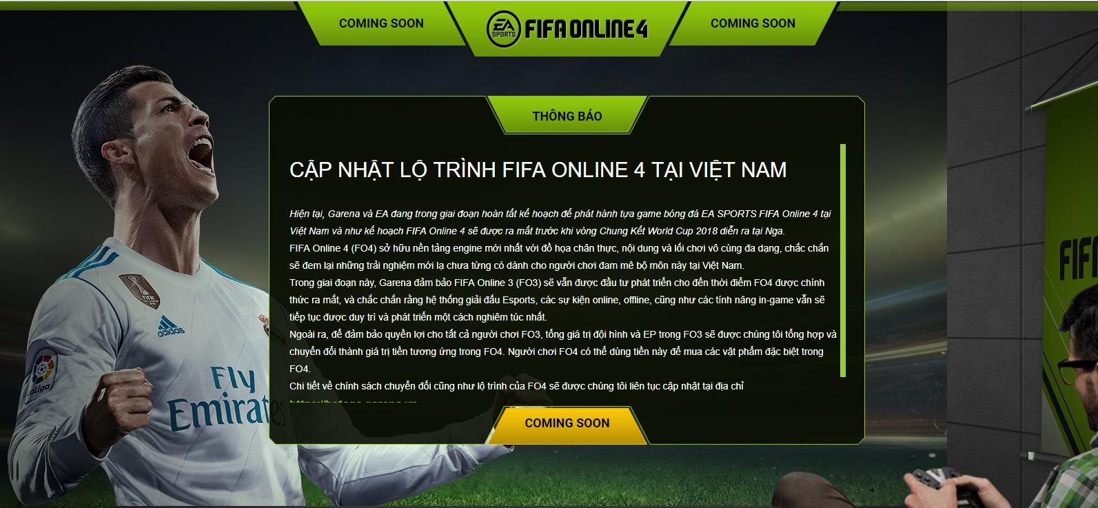 FIFA Online 4 được Garena đàm phán mua thành công, ấn định thời điểm ra mắt tại Việt Nam