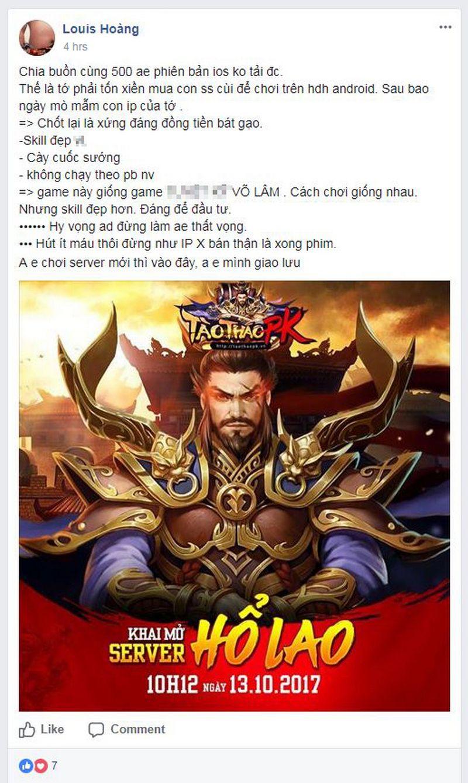 Game thủ Việt nói gì về Tào Tháo PK sau ngày đầu mở cửa?