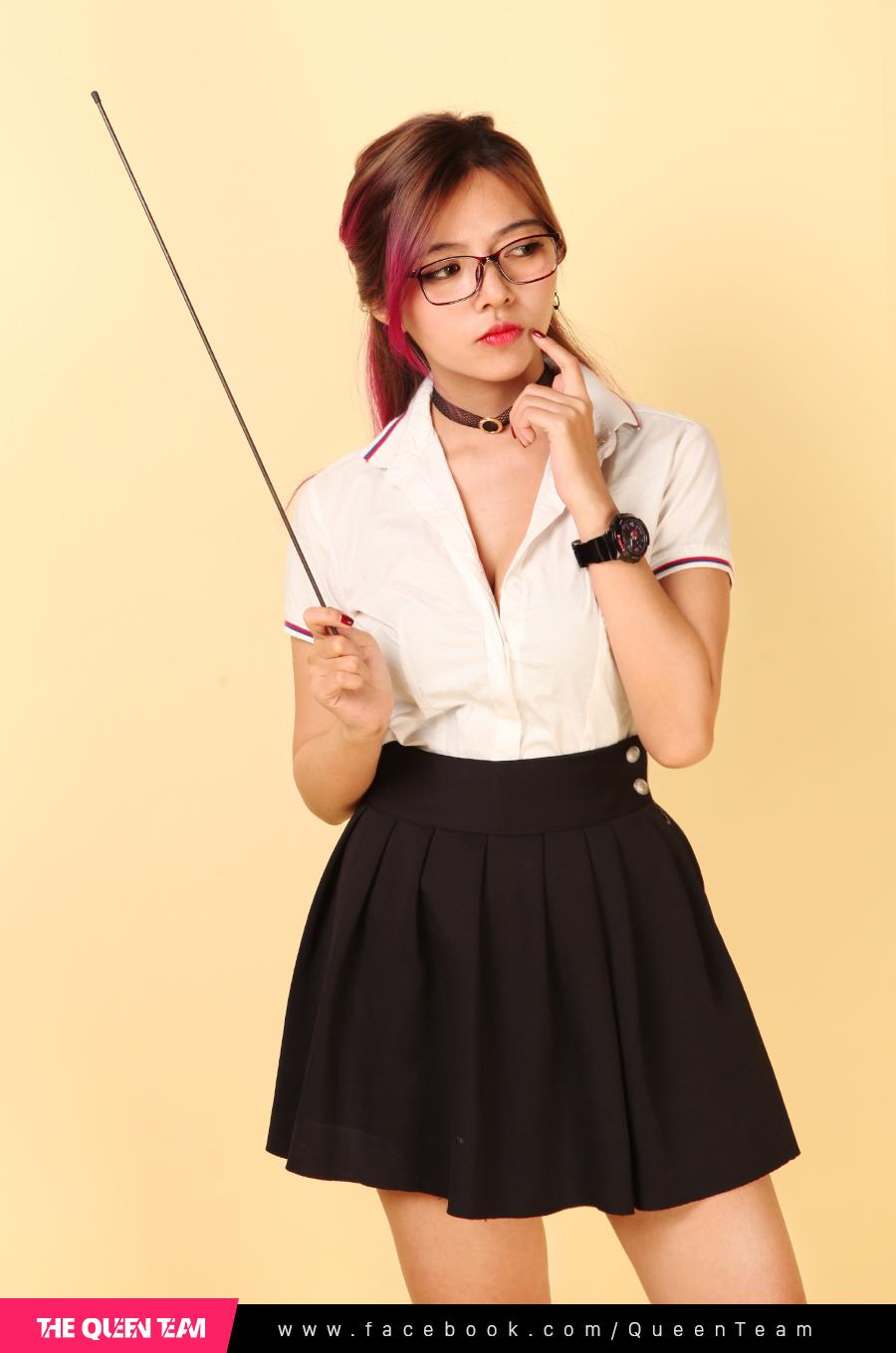 Ohsusu hóa thân thành cô giáo Thảo trong bộ ảnh mới